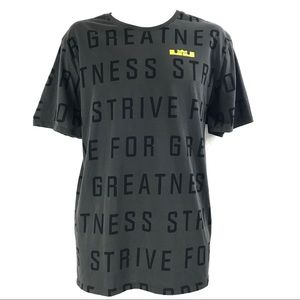 Nike Dri-Fit Men's Lebron James T-Shirt XL Gray